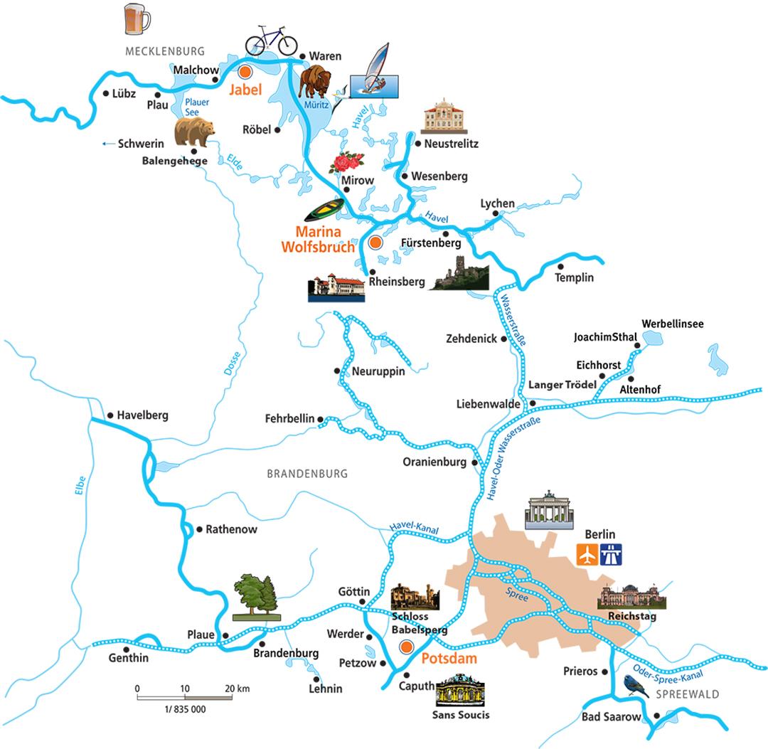 Turismo fluvial Alemania Mecklemburgo y Brandeburgo